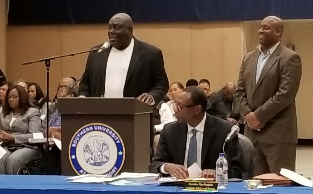 Dawson Odums gives remarks to Board of Supervisors.